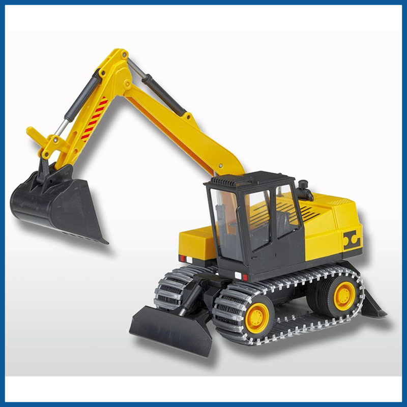 Wheeled Excavator with chains 1:25 Scale