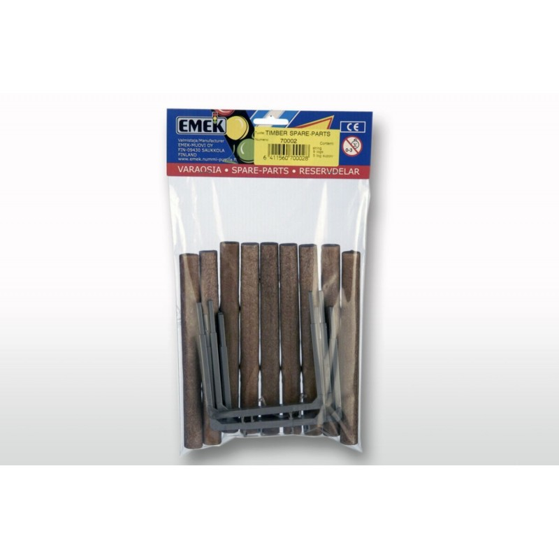 9 logs and 5 stakes
