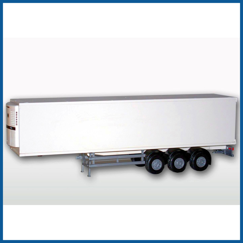 Refrigerated Semi Trailer While 1:25 Scale
