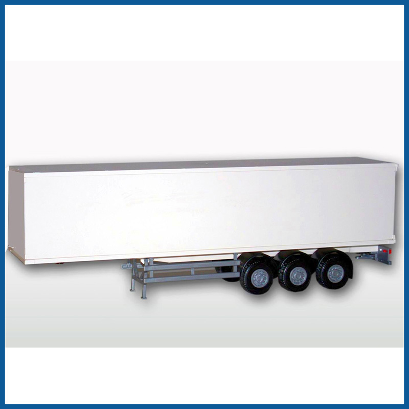 Box Semi Trailer While 1:25 Scale