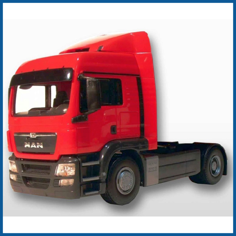 MAN TGS LX 4x2 Tractor Unit Red Cab 1:25 Scale
