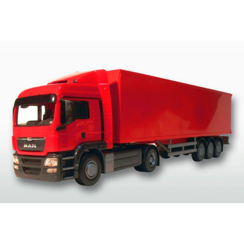 MAN TGS LX 4x2 Red Cab With 3 Axle Red Box Trailer