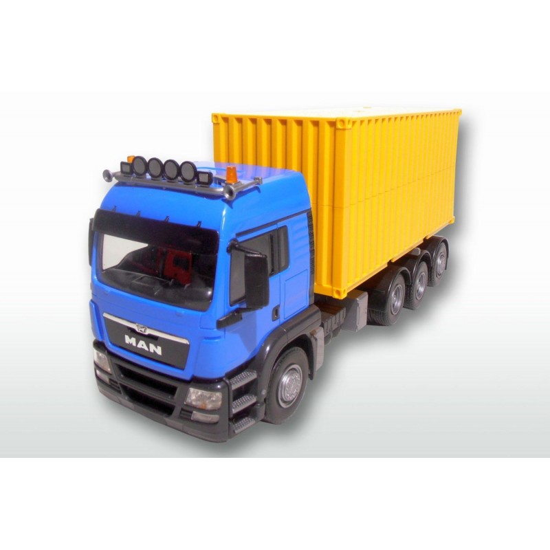 MAN TGS 8x4 Blue Cab With 20ft Container 1:25 Scale