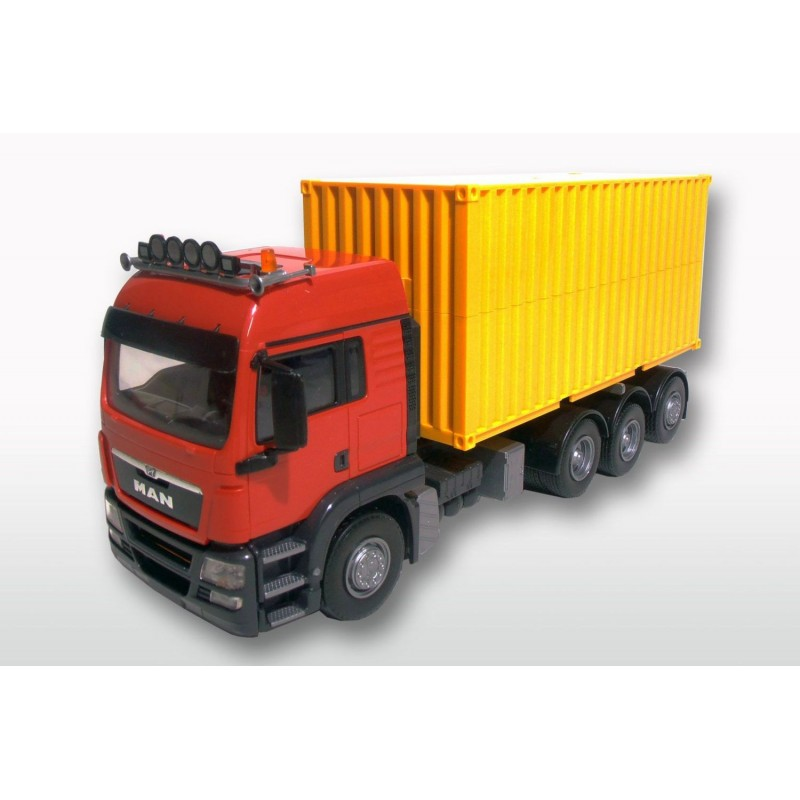 MAN TGS 8x4 Red Cab With 20ft Container 1:25 Scale
