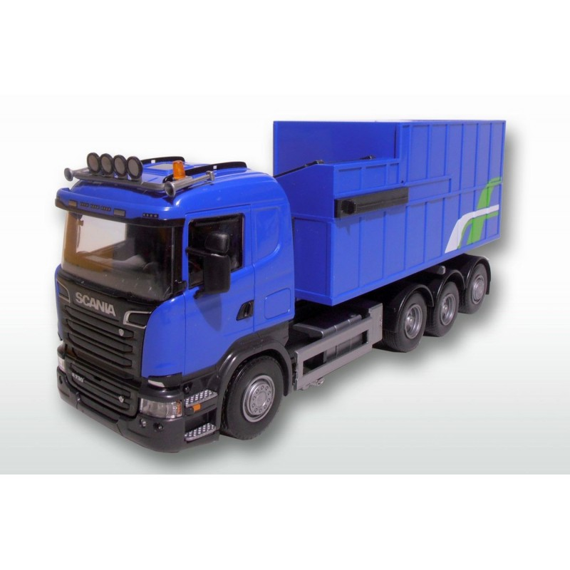 Scania R 8x4 Blue Cab Rubish Compactor Load 1:25 Scale