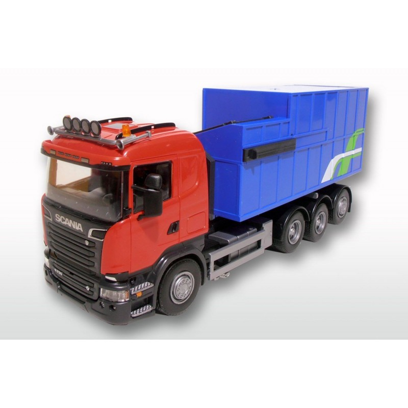 Scania R 8x4 Red Cab Rubish Compactor Load 1:25 Scale
