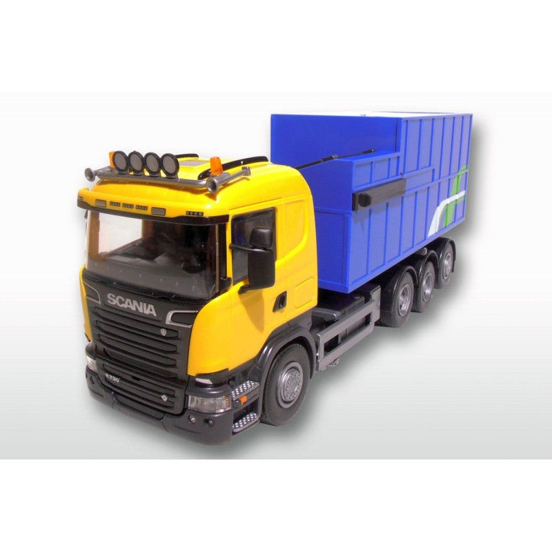 Scania R 8x4 Yellow Cab Rubish Compactor Load 1:25 Scale