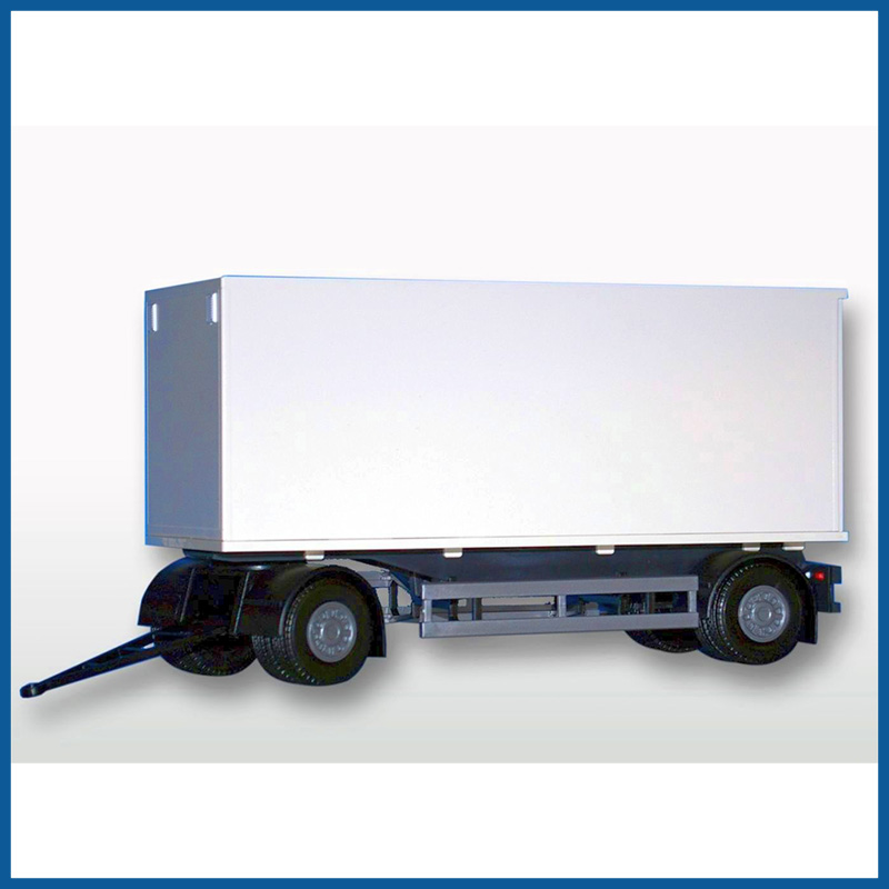 2 Axle White Box Trailer 1:25 Scale