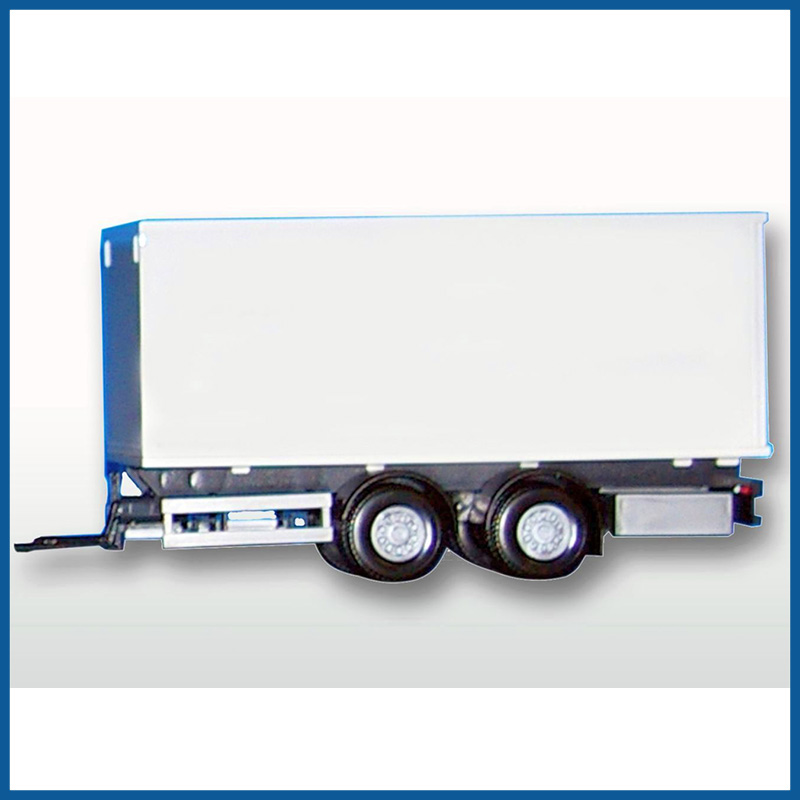 2 Middle Axle White Box Trailer 1:25 Scale