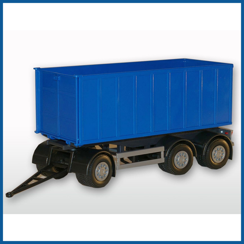 3 Axle Blue Roll Off Container 1:25 Scale