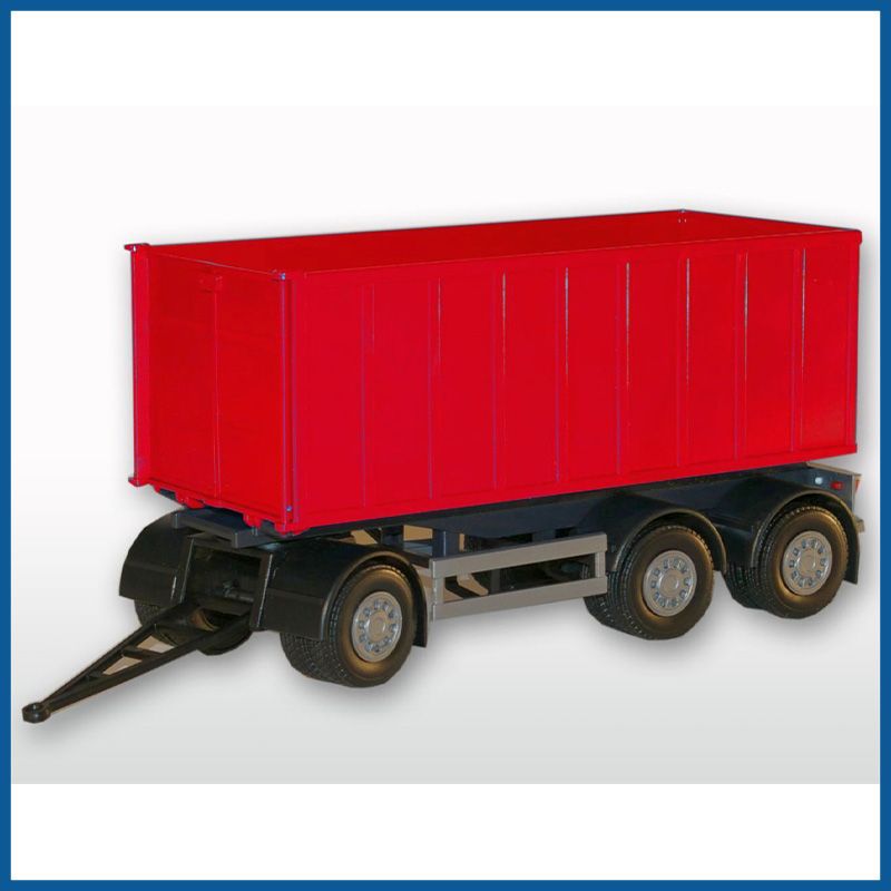 3 Axle Red Roll Off Container 1:25 Scale