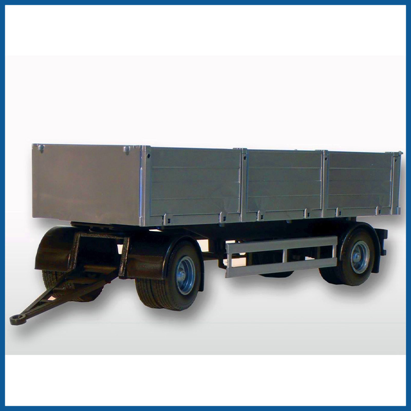 2 Axle Silver Trailer 1:25 Scale