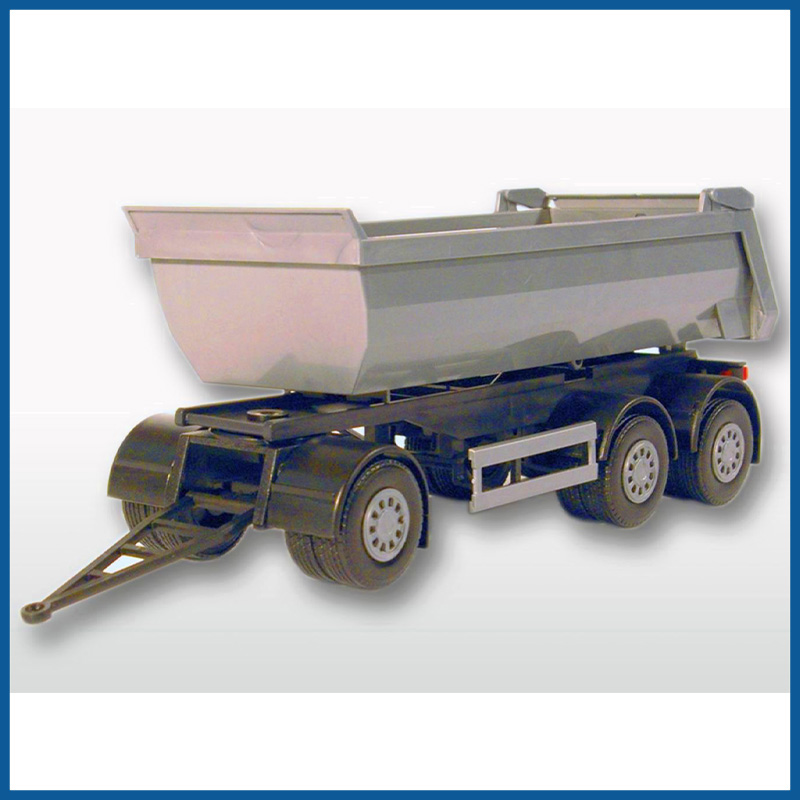 3 Axle Silver Tipper Trailer 1:25 Scale