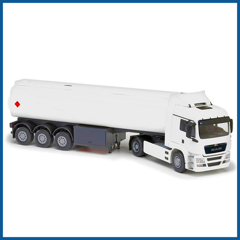 MAN TGS LX 4x2 White Cab Tanker Trailer 1:25 Scale
