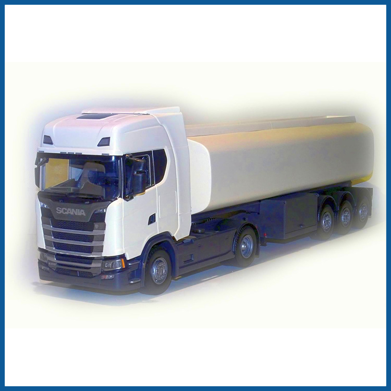 Scania S 410 4x2 White Cab Tanker Trailer 1:25 Scale