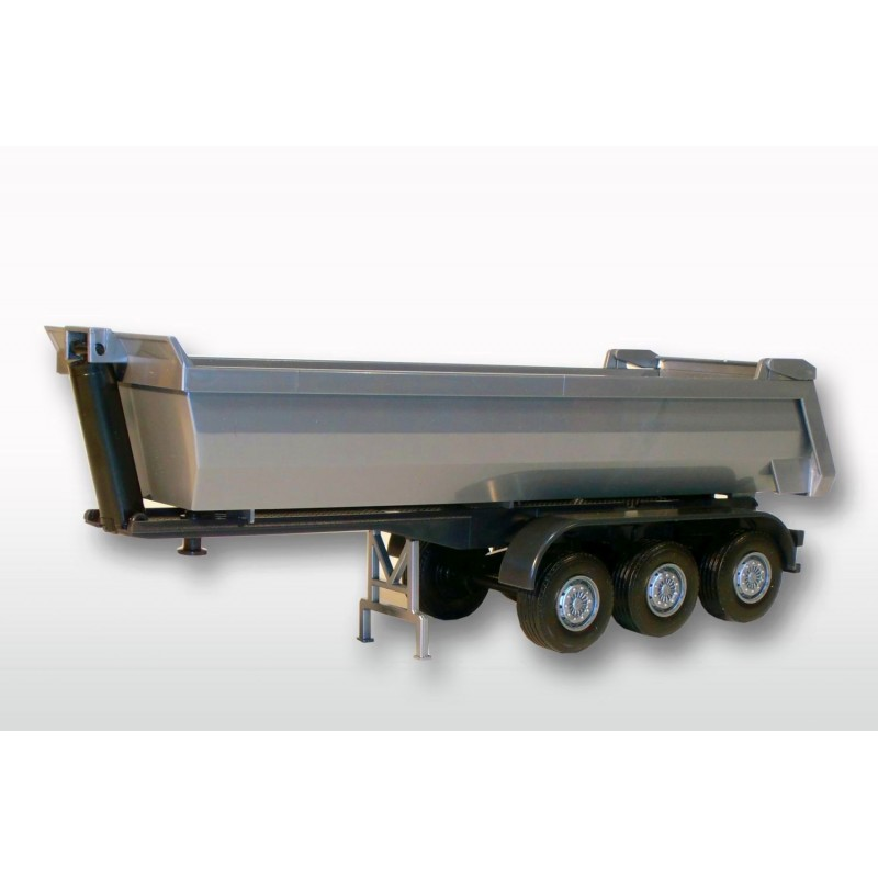 3 Axle Silver Dumper Trailer