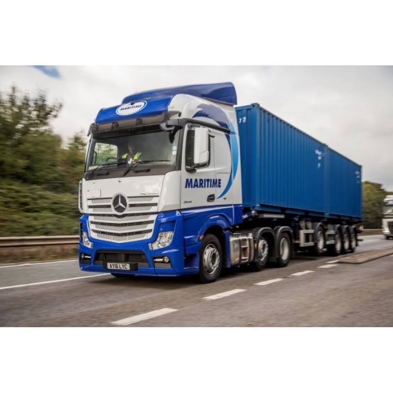 Maritime Mercedes Actros MP4 6x2 Curtainside Trailer