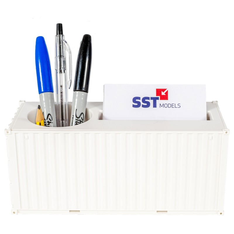 Container Themed Pen Pot 1:35 Scale (White)