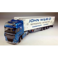 John Weir DAF XF105 Superspace Cab 6 x 2 with 3-axle Fridge Trailer